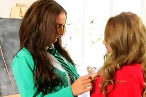 ultra breasty teacher sapphic chicks teasin