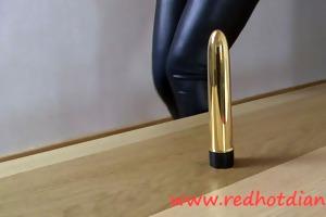 redhead vs golden dildo