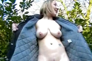 hot milf flashing and non-professional chick