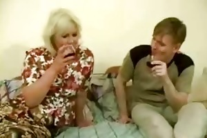 large drunk mama acquires fucked by legal age