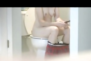 hawt tight-bodied mother i caught on toilet!