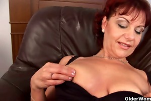 soccer mother i in nylons toying her juicy vagina