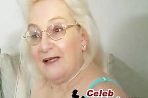 golden-haired granny blowjob