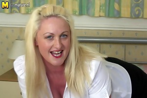 sexy british breasty aunty gets sexually excited