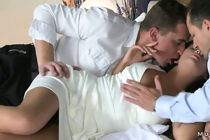 busty mama bang screwed in daybed
