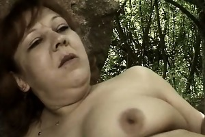 sexually excited aged woman goes insane engulfing