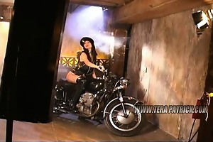 photoshoot diamond face bike darksome underclothes