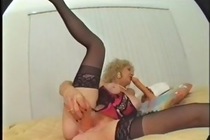 hairy granny likes fake penis and bbc