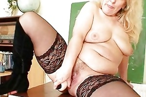 breasty mother i teacher copulates herself with a