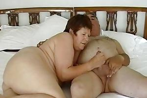 older exhibitionist pair masturbating with petite