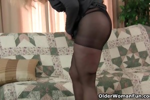 mammas pantyhosed pussy acquires her all hot and