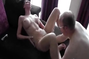 sexy brunette hair fist fucked in her loose