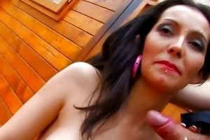 spanish milf pleases dick on camera