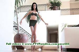 sophie fleshly dark brown teen flashing pointer