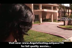 superb agreeable brunette hair girl doing oral