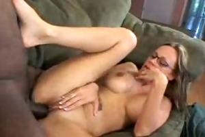 sexy mommy enjoys trio darksome penis