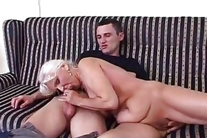 piddle granny in satin urinate and fuck
