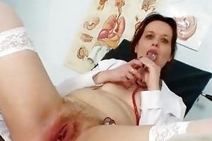 unpretty mature nurse weird gyno...