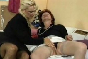 old lesbians in business suits nylons and heels