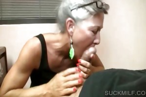 pov oral-job with blond cougar