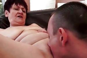 guy bonks nasty chubby granny