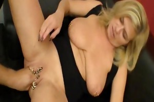 biggest fisting for her heavily pierced cum-hole
