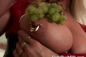 large pierced granny breasts
