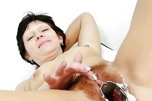 fuckable brunette granny acquires her hairy