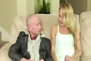 wicked juvenile playgirl sucking mature rod in