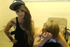 emo pair fuck every other on livecam