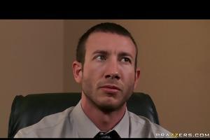 juvenile breasty brunette secretary gets punished
