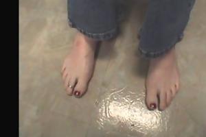 aged male feet