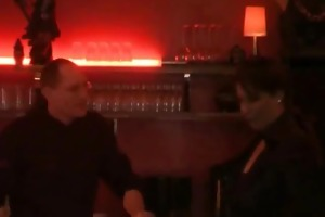 dilettante bitch fist fucked in a public bar