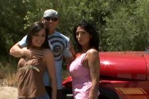 hot breasty cougar ricki raxx and allies threesome