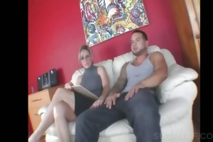 blonde mother i sharing pecker in some