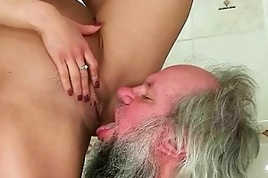 hotty punishing and fucking a granddad