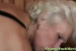 golden-haired granny coarse nailed