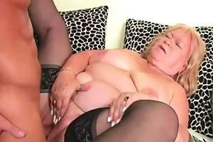 blond chubby granny edna