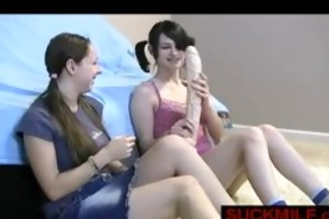 2 juvenile beauties see d like to fuck engulf dick