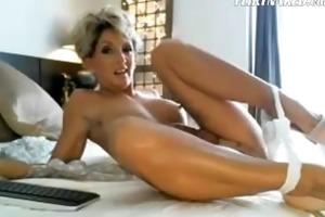 hottest mother i ever rides fake penis on cam
