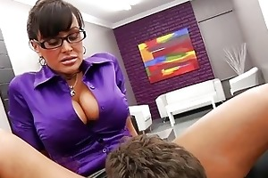 favourable worker licking his hawt older boss
