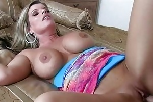 sweet golden-haired milf getting her love tunnel