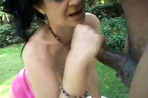 hawt mother i outdoor cum facial