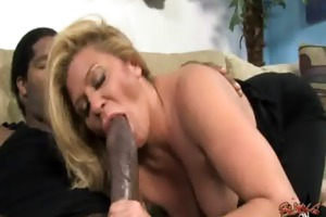 cougar copulates a biggest darksome monster knob