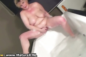 lascivious breasty aged mom is stroking part4