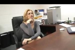 cougar secretary swallows dark dick cum