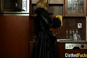 sexy group fucking for nun in latex