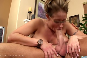 eva nottys receives plowed and swallows for the