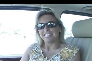 wife engulf in car