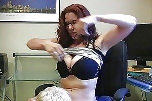 enormous chested momma with glasses receives her